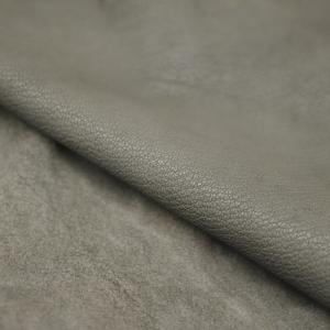 grijs geitenleer